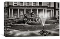 Neptune's Fountain, Cheltenham                    , Canvas Print