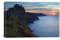 Valley of the Rocks Sunset                        , Canvas Print