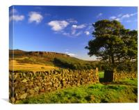 View towards Millstone Edge, Canvas Print