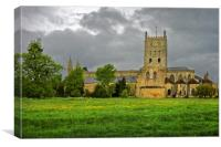Tewkesbury Abbey                           , Canvas Print