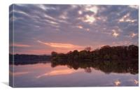 Chard Reservoir Sunset                            , Canvas Print