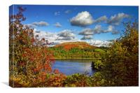 Burrator and Sheepstor In Autumn                  , Canvas Print