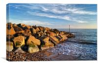 Sidmouth Sea Defences                      , Canvas Print