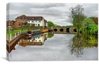 River Avon at Tewkesbury                          , Canvas Print