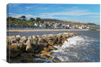 Lyme Regis from North Wall                      , Canvas Print