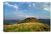 Crook Hill overlooking Ladybower                  , Canvas Print