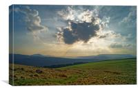 Crespuscular Rays from Crook Hill, Canvas Print