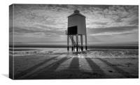 burnham on sea low lighthouse, Canvas Print