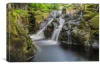 river avon waterfall dartmoor, Canvas Print
