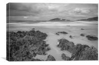 bantham  beach, Canvas Print