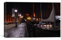 moored at liverpool albert dock, Canvas Print