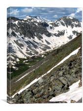 The Summit Ridge, Canvas Print
