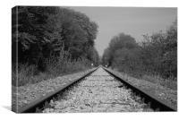 Endless Railroad Tracks, Canvas Print