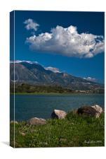 Lake and mountin, Canvas Print