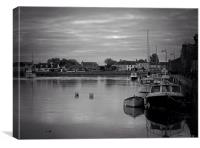 A grey day in Dungarvan, Canvas Print