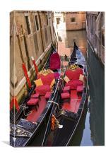 Gondolas, Canvas Print