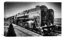 Oliver Cromwell Locomotive, Canvas Print