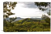 Coonoor from the Kotagiri Road, Canvas Print