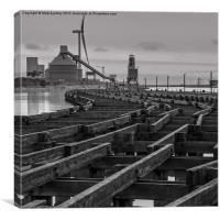Battleship wharf., Canvas Print