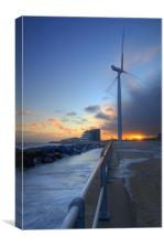 lowestoft Wind Turbine, Canvas Print