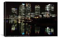 Canary Wharf Reflection, Canvas Print