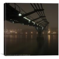 Millennium Bridge Mist, Canvas Print