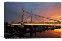 Albert Bridge, Canvas Print
