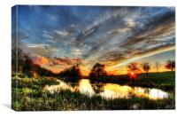 Saturday Evening, Sunset, Canvas Print
