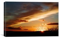 Bright sky,sunset, Canvas Print