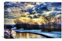 frosty morning,sunrise, Canvas Print