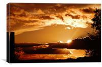 Breaking dawn, sunrice, Canvas Print