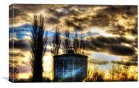 Blue, sunset, Canvas Print