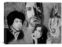 Drawing of, 27 CLUB, Canvas Print