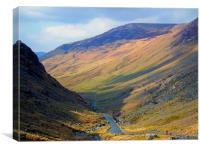 Lake District Biker, Canvas Print
