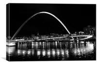 Newcastle upon Tyne bridge, Canvas Print
