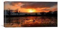 Orange Sunset Reflection, Canvas Print