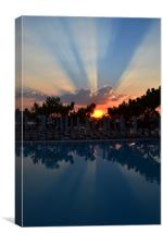 Swimming Pool Sunset, Canvas Print