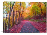Fall Walkway, Canvas Print