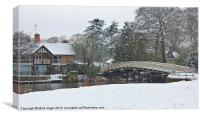 Cookham in snow, Canvas Print
