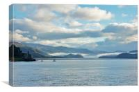 Misty Barmouth Estuary, Canvas Print