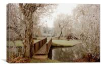 Over The Bridge in Cookham, Canvas Print
