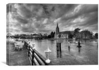 Marlow Church And Bridge, Canvas Print