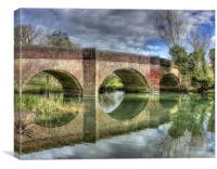 Cookham Causeway Bridge, Canvas Print