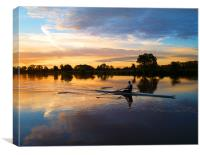 Rower at Sunrise, Canvas Print