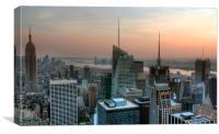 New York Sunset, Canvas Print
