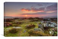 Curbar Sunrise, Canvas Print