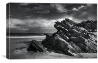 Silvery Rocks, Canvas Print