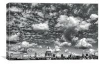 Clouds (Mono), Canvas Print