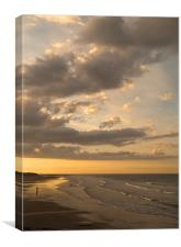 Seahouses Sunset, Canvas Print
