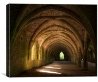 The Cloisters at Fountains Abbey, Canvas Print